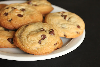 close-up photo of chocolate chip cookies