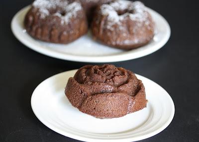 photo of one Mini Cinnamon Chocolate Bundt Cake