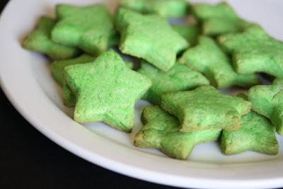 close-up photo of Pandan sugar cookies