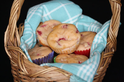 photo of a basket of Strawberry cupcakes