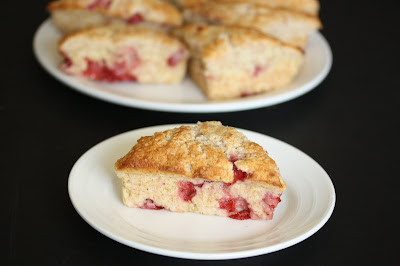 photo of a scone on a plate