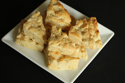 overhead photo of a plate of apple scones