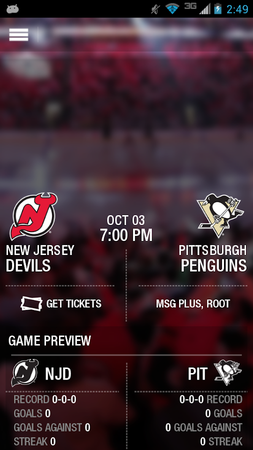 Official New Jersey Devils App - screenshot