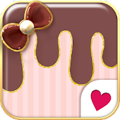 Cute wallpaper★pink chocolate