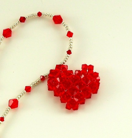 photo of crystal heart necklace