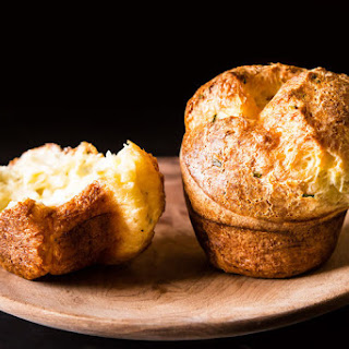 Black Pepper Popovers with Chives and Parmesan Recipe