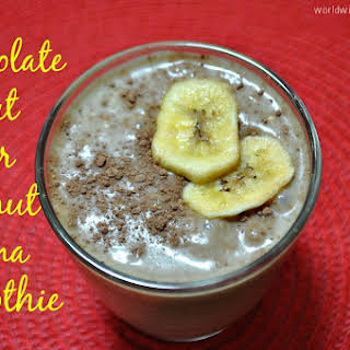 Chocolate, Peanut Butter, Coconut, Banana Smoothie.