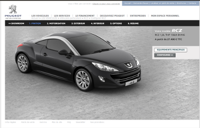 peugeot's new car configurator launched | art, life and software