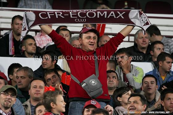 UEFA Champions League 2010/11. CFR Cluj - FC Basel 2-1 // Un suporter alb-vişiniu