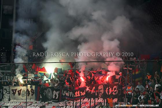 UEFA Champions League 2010/11. CFR Cluj - FC Basel 2-1 // ..şi un fum gros
