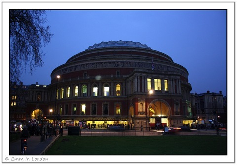 The Royal Albert Hall By Night