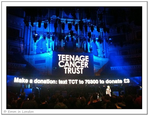 Editors Teenager Cancer Trust Royal Albert Hall