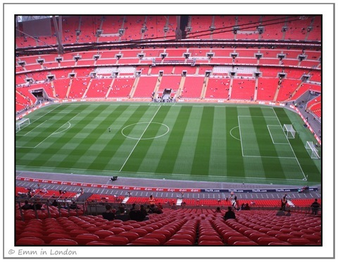 Wembley Stadium - awesome seats!
