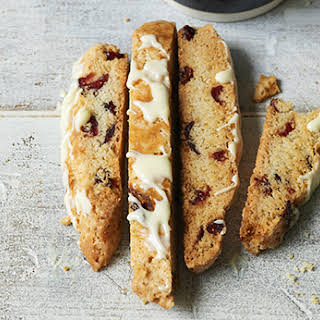 Dried Cranberry and White Chocolate Biscotti.