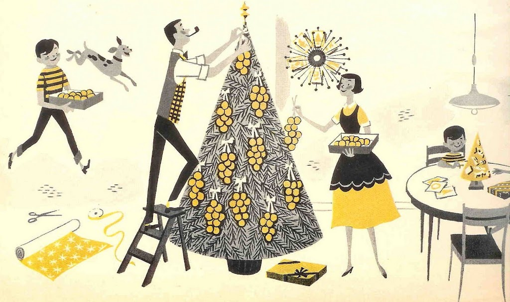 Horror Weihnachtsbilder.Martin Klasch Illustration Vintage Pipe Smoking And Christmas