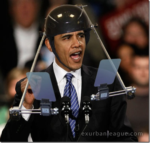 Obama portable teleprompter