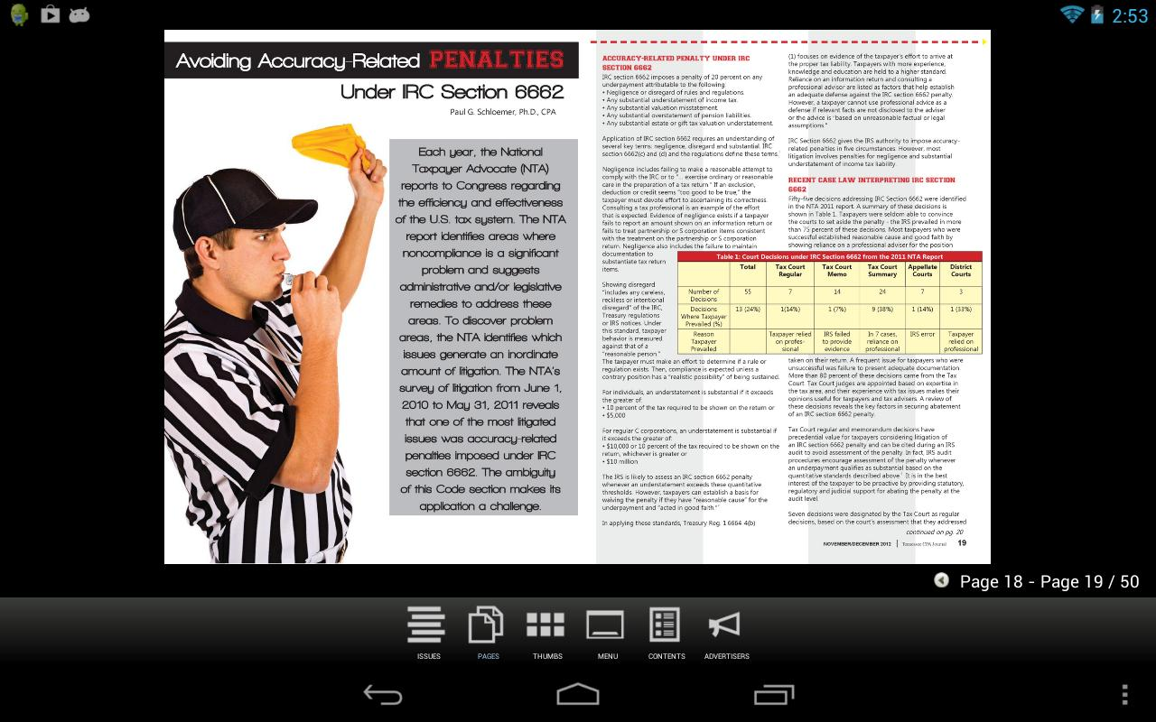 Tennessee CPA Journal- screenshot