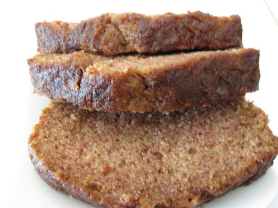 close-up photo of slices of zucchini bread