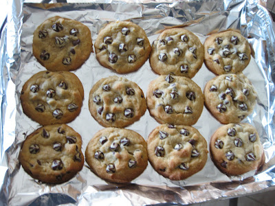 photo of baked cookies on a cookie sheet