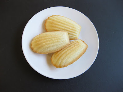 overhead photo of madeleines