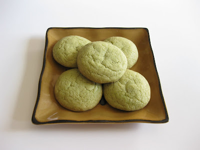 photo of a plate of Matcha Green Tea cookies