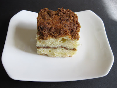 photo of one slice of Sour Cream Coffee Cake