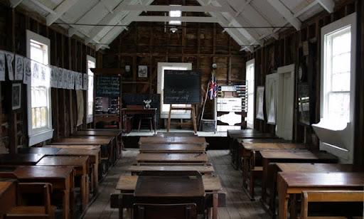 Wnętrze Szkoły w Museum