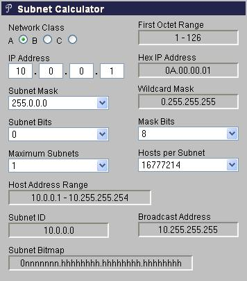 Online ip subnet calculator | ip address | calculator.