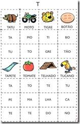 jogo das sílabas T