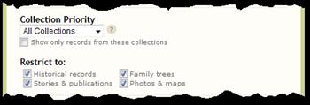 高级搜索现在具有集合和录制类型过滤器