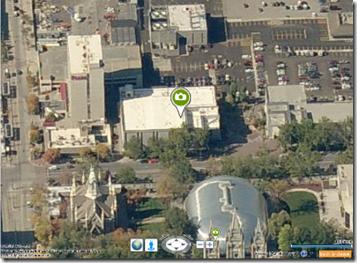 在Bing地图的FHL上的墙壁壁画图标