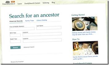 beta.familysearch.org搜索表格有出生和死亡事件的空间
