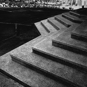 Steps to God by Bihong Kollogov - Buildings & Architecture Architectural Detail ( temple, stairs, black & white, steps,  )