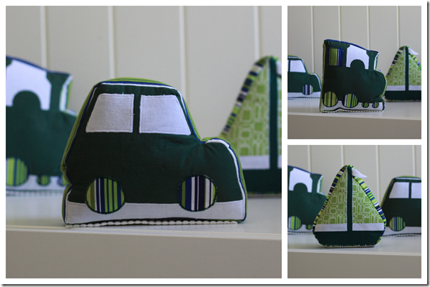 Car, Boat, Train: Fabric Bookends | Cook Clean Craft