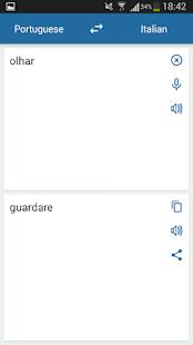 Italian Portuguese Translator - náhled