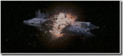 «Apoteosica» explosión en el espacio (imágen extraida de «La Amenaza Fantasma»)