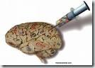 Simil gráfico del proceso de inoculación de memes en la mente de una persona