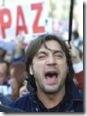 Javier Bardem artista subvencionado por el actual ejecutivo español, berreando en contra de Aznar