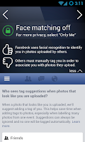 Screenshot of PrivacyFix for Social Networks