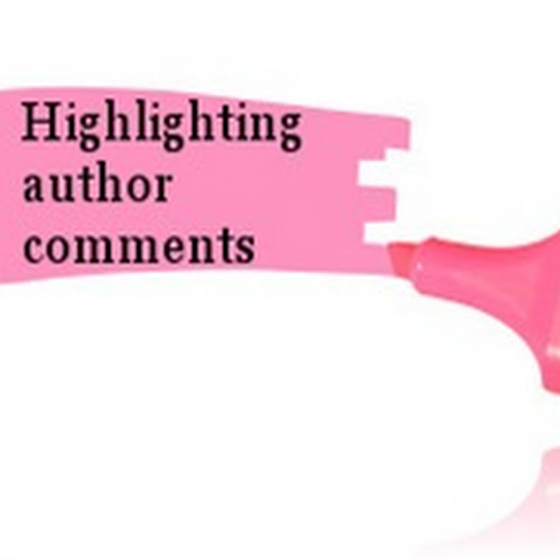 How to highlight author comments in Blogger