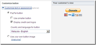 customize paypal donate button