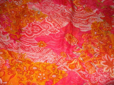 Viscose Chiffon Print color ORANGE / Designer Fabrics
