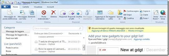 windows live mail 2011 home