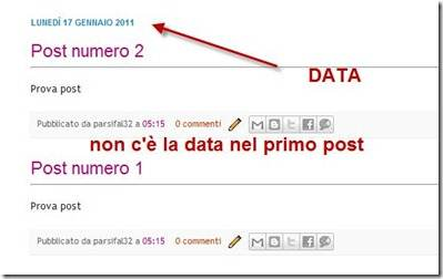 data nei post di blogger