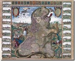 mapa_Leo_Belgicus_Claes_Janszoon_Visscher_conmemora_Tregua_doce_anos_1609_Paises