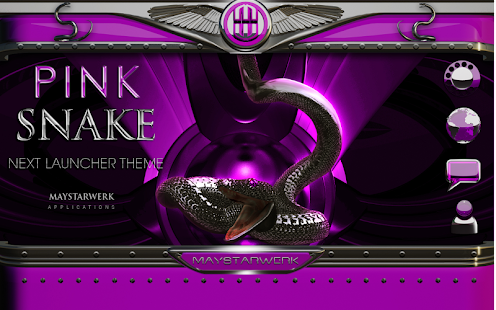 Next Launcher Theme pink snake