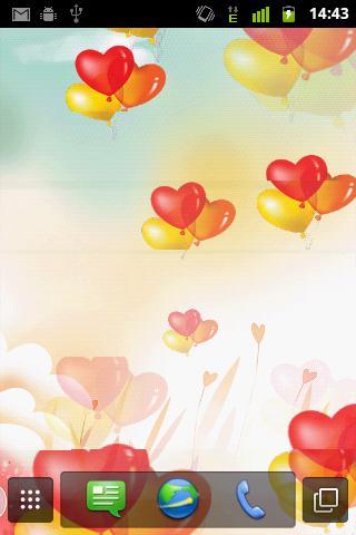 【免費個人化App】Heart Ballons Live Wallpaper-APP點子