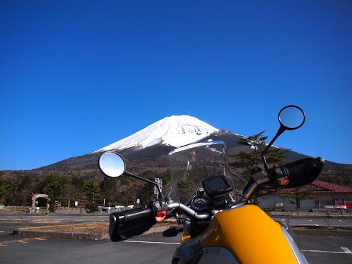 [写真]富士山。水ヶ塚公園にて