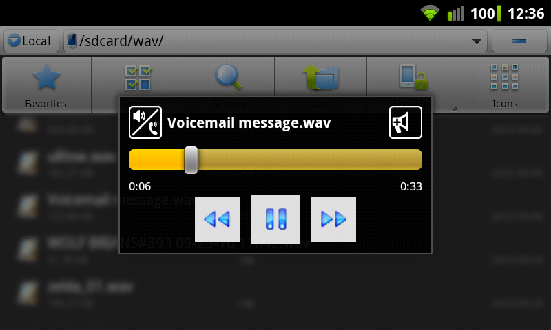 WavPlayer - screenshot