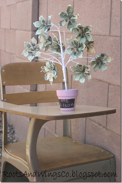 teacher appreciation money tree d